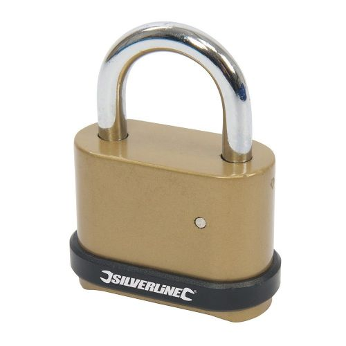 Silverline 472645 Zinc Alloy Combination Padlock 4 Digit 50mm